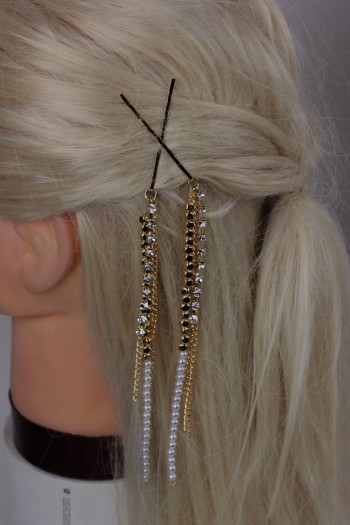 Hair Codi Three Line Dangling Bobby Pin