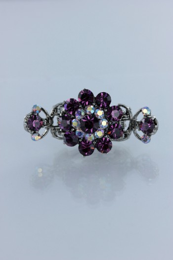 Shiny swarovski crystal side hair clip jewelry