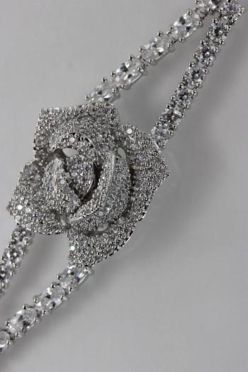 Rose CZ Bracelet