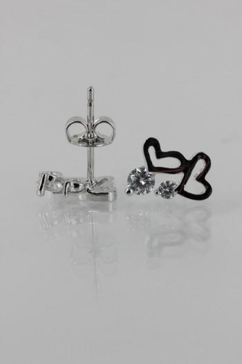 wholesale heart cz earrings
