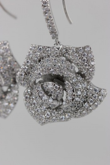 Rose CZ Earring