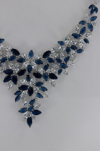 Creative Sapphire CZ Necklace