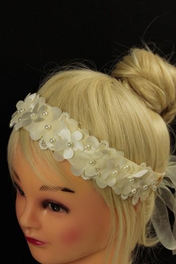 Daisy press flwoer ribbon headband
