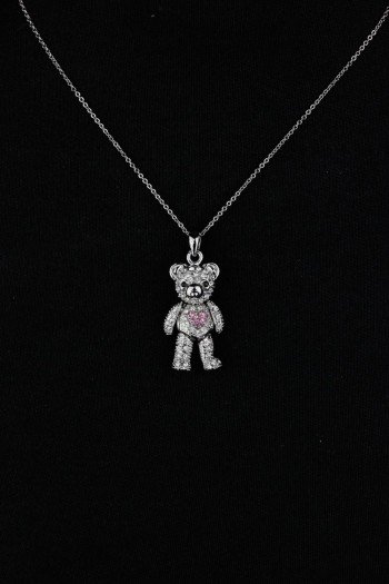 Three Dimentional Bear Pendant Necklace