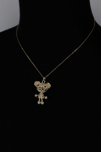 Three Dimentional Mice Pendant Necklace