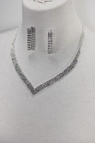 10043-6 Basic rhinestone necklace set