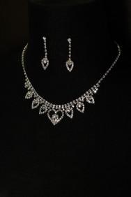 10278-6 heart flower necklace set