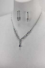 10319-6 Simple rhinestone necklace set