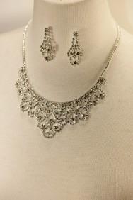 10320-6 Athena rhinestone necklace set