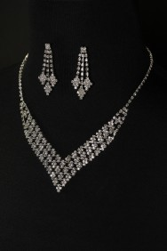10324-6 Ice cube necklace set