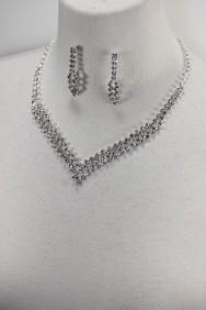 10331-6 Vnet rhinestone necklace set with bracelet