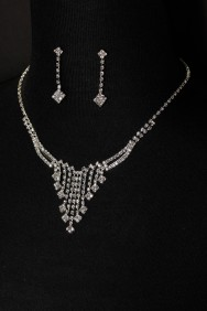 10333-6 simiple drop necklace set