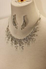 10403-6 Snow storm rhinestone necklace set