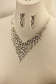 10413-6 Rain rhinestone necklace set