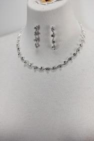 10470-6 Foggy rhinestone necklace set