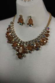 13665-2 Fashion fusion necklace set