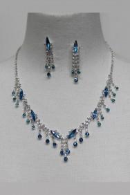 20046-1 Raindrop Rhinestone Necklace
