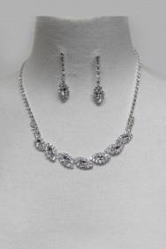 20164 Snowflake Rhinestone Necklace