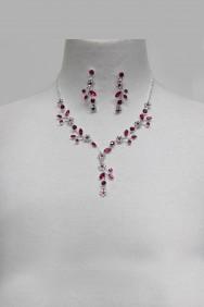 20167 Flower Garden Rhinestone Necklace