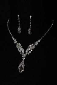 20251-1 mirror drop necklace set