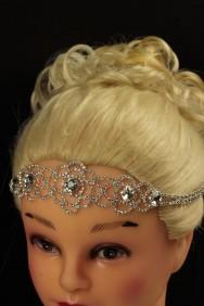 63231-1 Elastic rose headband chain