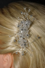 63503-1 Hand crystal bridal side hair comb