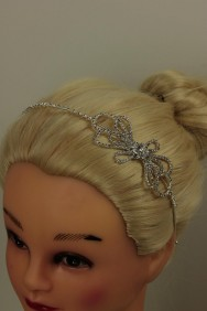 63818-1 Ribbon rhinestone headband