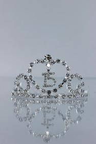 6609-1 Mini-size 15th birthday tiara