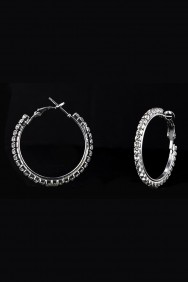 68610-30MM 1-LINE HOOP EARRING
