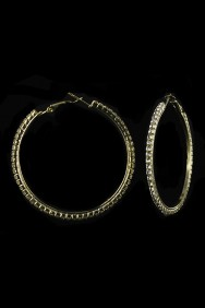 68620-50MM 1-LINE HOOP EARRING-E1288