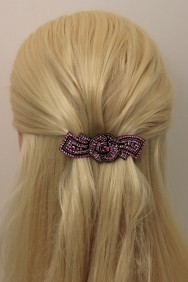 BA104 Rose Medium Barrette