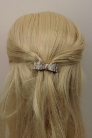 BA105 Square Ribbon Small Barrette