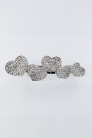BA48 5 hearts hair barrette