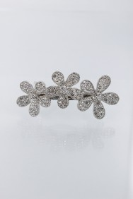 BA50 3 leave flower hair barrette