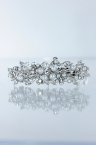 BA73 Small flower hair barrette jewelry for weding