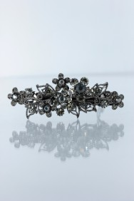 BA74 Small smoggy flower prom barrette jewelry