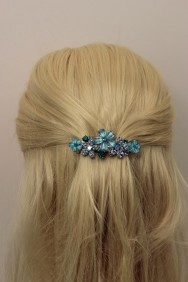 BA80 Small Acrylic flower hair barrette jewelry