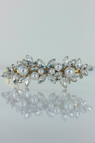 BA92 Snow flake medium barrette