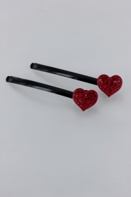 BB38 Lovely Heart Bobby Pin (set of 2)