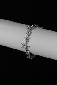 BLP19 Jasmin flower foldover bracelet