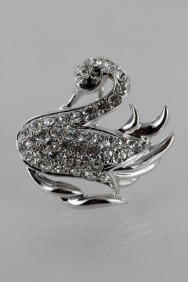 BR153 Little Swan Brooch