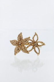 BS2 DOUBLE STARFISH BRIDAL HAIR BARRETTE JEWELRY