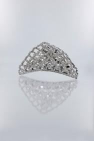 C174 Net crystal hair clip