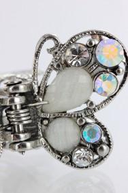 C197 2pc acrylic mini butterfly bridal hair clip