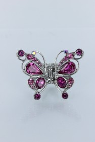 C199 Crystal butterfly prom hair clip