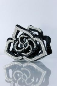 C210 Rose rhinestone hair clip jewelry