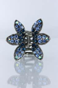 C212 6 leave flower gradiated hair clip jewelry