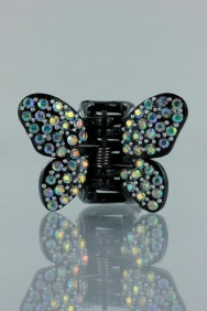 C242 Butterfly acrylic hair clip