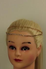 C260 Rhinestone Hair Clip with Chain