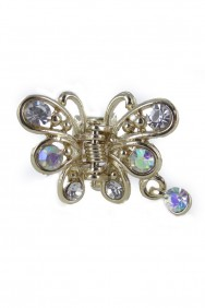 C62 4PC Dangling butterfly hair clip jewelry